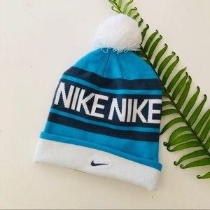 ⭐️ Nike Striped Pom Pom Beanie